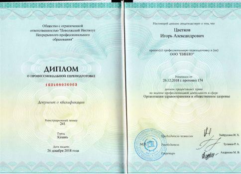 Диплом Цветкова Игоря Александровича